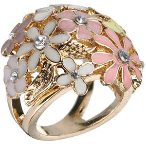 Pastel flower bomb ring